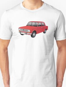 VAZ-2101 - Lada 1200 - illustration, red Unisex T-Shirt