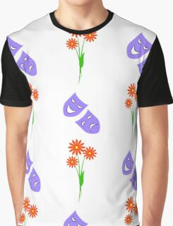 chamomiles and sad and funny masks Graphic T-Shirt
