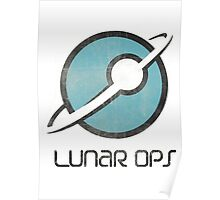 Faded Lunor Ops Logo Poster