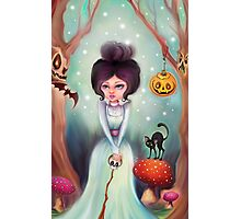 Halloween Friends in the Forest Photographic Print