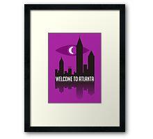 Welcome To Atlanta Framed Print