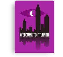 Welcome To Atlanta Canvas Print