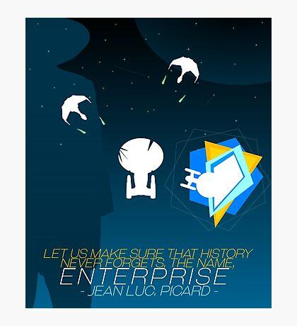 Star Trek: TNG - Yesterday's Enterprise Photographic Print