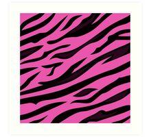 Animal background pattern - pink tiger skin texture. Background texture of pink tiger skin Art Print
