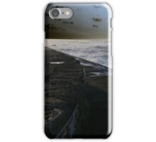 Harbour wall at Porthleven iPhone Case/Skin