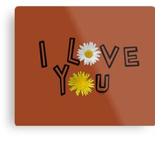 I love you on potter s clay Metal Print