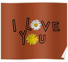 I love you on potter s clay Poster