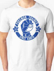 Pokemon Trainer Blue Logo FanArt Unisex T-Shirt