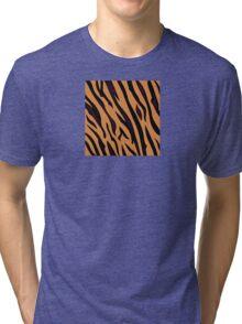 Animal background pattern - tiger skin texture. Background texture of tiger skin Tri-blend T-Shirt