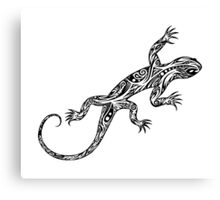 Tribal Lizard Canvas Print