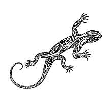 Tribal Lizard Photographic Print