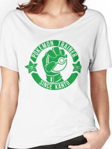 Pokemon Trainer Green Logo FanArt Women's Relaxed Fit T-Shirt