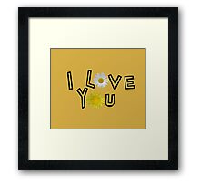 I love you on spicy mustard Framed Print