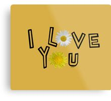 I love you on spicy mustard Metal Print