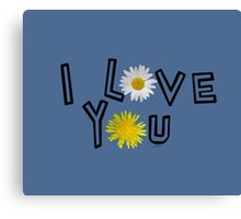 I love you on the riverside Canvas Print