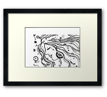Woman of the Universe Framed Print