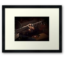 Gretch guitar with capo Framed Print