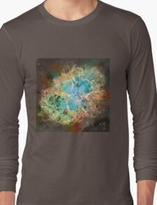 Crab Nebula - Watercolour Long Sleeve T-Shirt