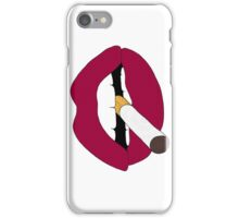 Lips with Cigarette iPhone Case/Skin