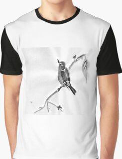 Sumi-E Wren Drawing Graphic T-Shirt