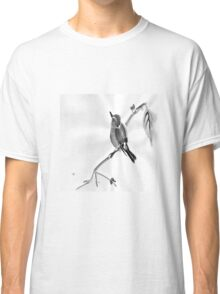 Sumi-E Wren Drawing Classic T-Shirt