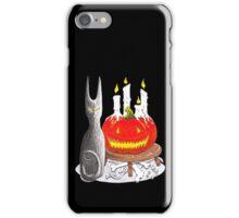 Spooky Halloween Black Cat and Jack-O-Lantern iPhone Case/Skin