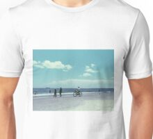 Beach and Bicycle  Unisex T-Shirt