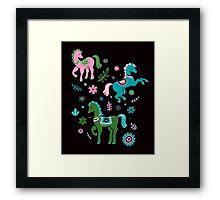 ponies 1 Framed Print