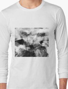 Abstract Charcoal Long Sleeve T-Shirt