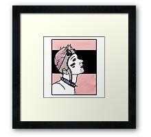 Pink. Punk. Likes it rough. Framed Print