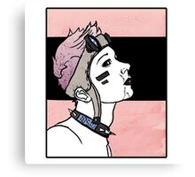 Pink. Punk. Likes it rough. Canvas Print