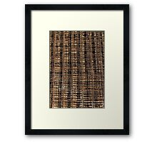Welded Wire Mesh Construction Framed Print