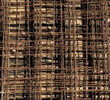 Welded Wire Mesh Construction Sticker