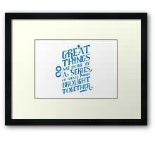 Typographic Print Framed Print