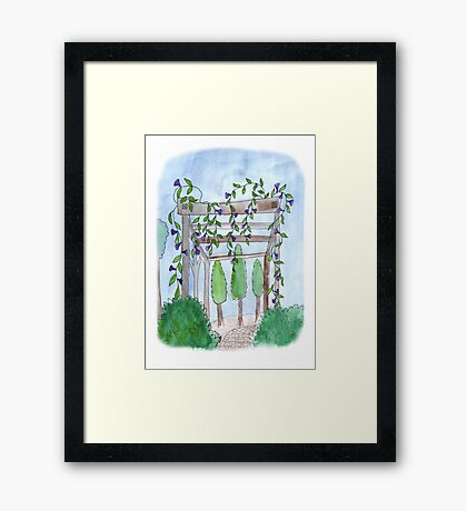 Neighbor Pergola Framed Print