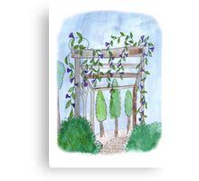 Neighbor Pergola Canvas Print