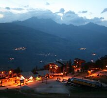 Vallandry at Night by RedHillDigital