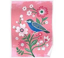 painted birdie Poster