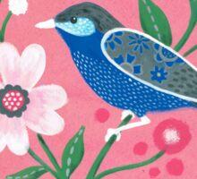 painted birdie Sticker