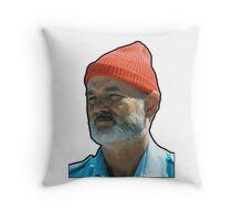Bill Murray as Steve Sizzou  Throw Pillow