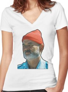 Bill Murray as Steve Sizzou  Women's Fitted V-Neck T-Shirt
