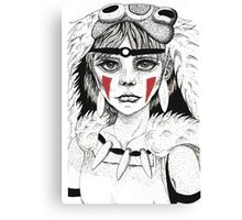 Pen ink Mononoke Canvas Print