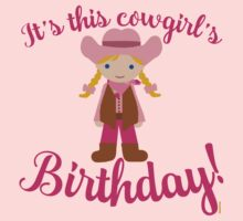 Little Cowgirl Birthday Lighter Skin Blonde Hair One Piece - Short Sleeve