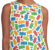 Jelly Beans & Gummy Bears Pattern Contrast Tank