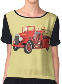 Antique Fire Engine Chiffon Top