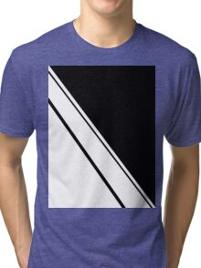 Black and White Simplicity  Tri-blend T-Shirt