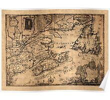 Map Of Nova Scotia 1776 Poster