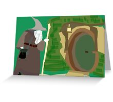 Theres a Wizard at the Door Greeting Card
