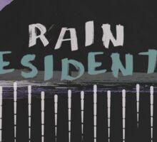 Rain Residents LP Cover Sticker
