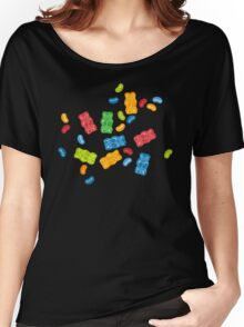 Jelly Beans & Gummy Bears Pattern Women's Relaxed Fit T-Shirt